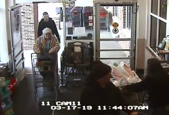 State police are searching for a woman seen in a LaGrange Tops Friendly Market store as part of their counterfeit money investigation. She is not considered a suspect of crime.