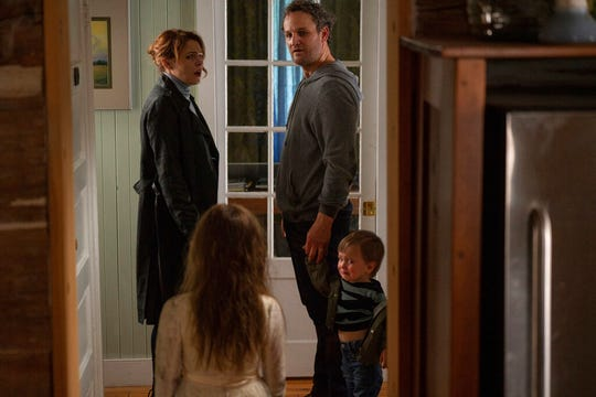 "Clockwise from top left, Amy Seimetz, Jason Clarke, Hugo Lavoie and Jete  Laurence in a scene from ""Pet Sematary."" The movie is playing at Regal West Manchester Stadium 13 and R/C Hanover Movies."