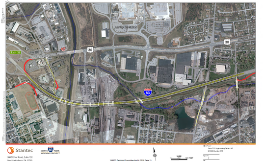 The Codorus Creek bridges will be replaced and the highway will be widened.