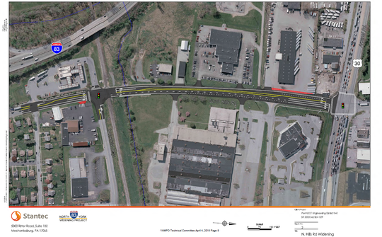 North Hills will be widened to two lanes in each direction between Industrial Highway and Route 30.
