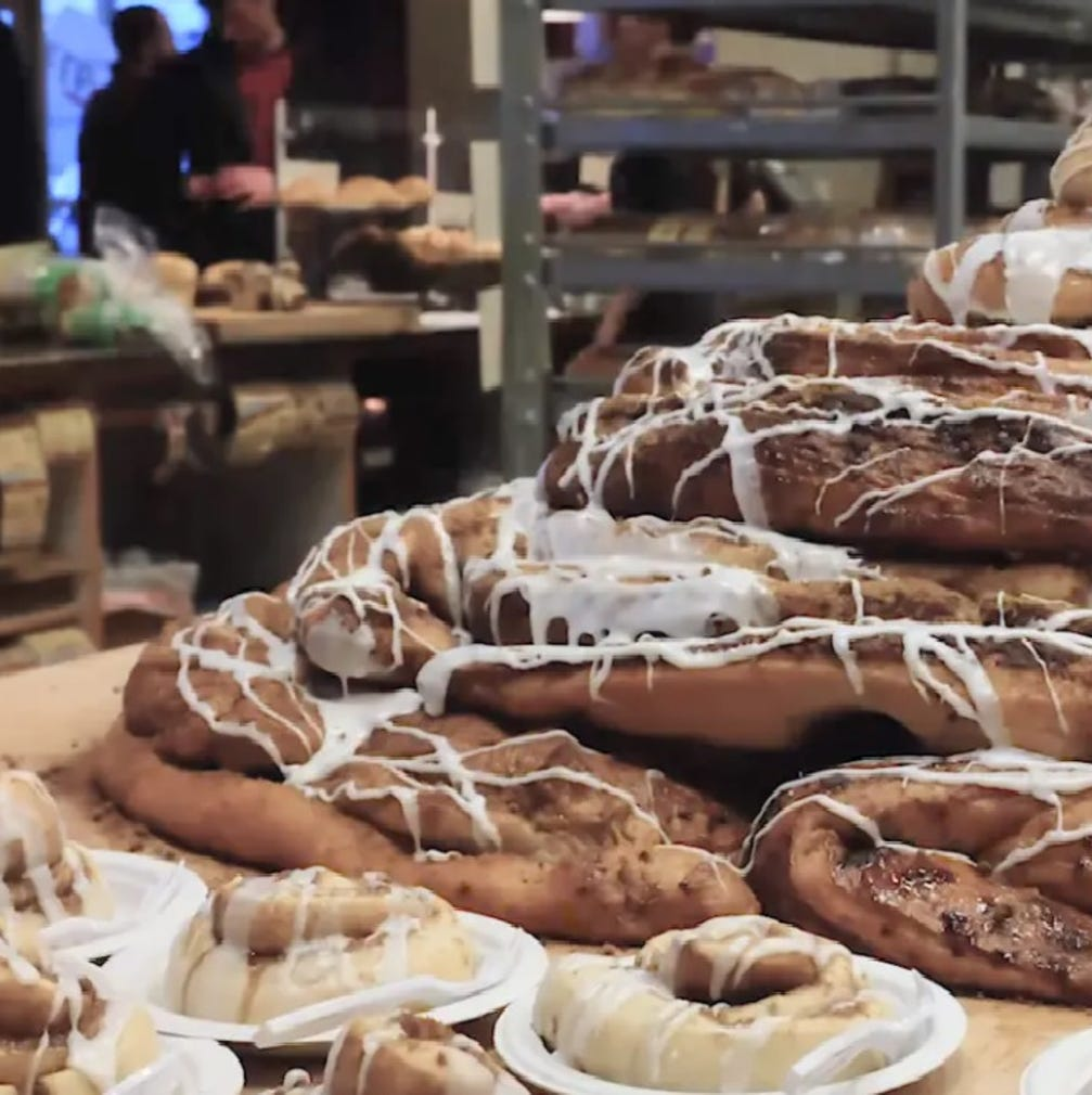 House of Bread brings a whopping 100 pounds of cinnamon roll to Reno