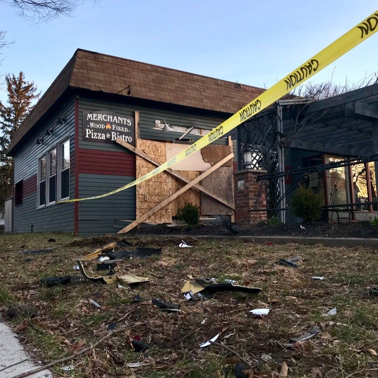 Merchants Wood-Fired Pizza & Bistro closed after crash; DWI charges expected