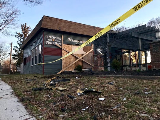 Merchants Wood-Fired Pizza and Bistro was damaged after a car crashed into the eatery on April 3, 2019.