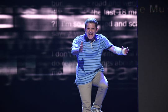 Ben Platt performs a song from Dear Evan Hansen at the Tony Awards where the show won multiple awards.
