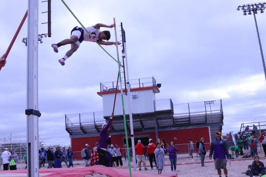 Ozona High School's Michael Esparza won the boys pole vault Wednesday, April 3, 2019, at the District 7-2A Track and Field Meet in Christoval.