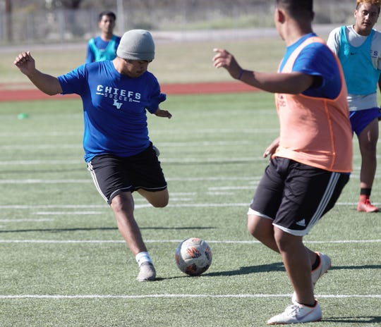 Lake View High School soccer player Angel De La Torre was born with a partial left arm, but that hasn't kept him from playing a variety of sports.