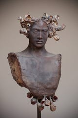 Work by artist Alejandra Almuelle featured in San Angelo Ceramic Invitational Exhibition at SAMFA.
