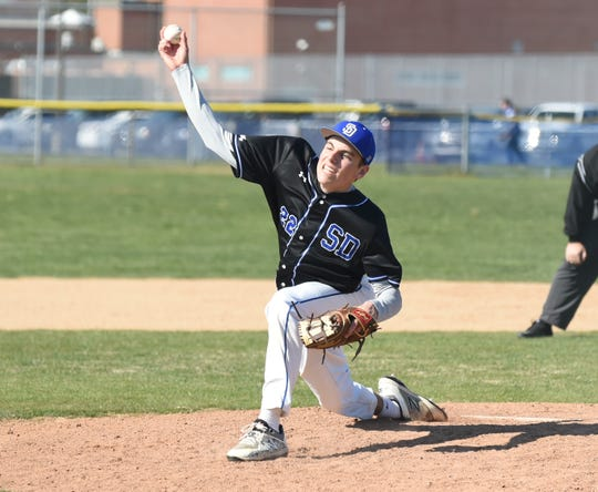 Stephen Decatur's Hayden Snelsire pitches against Parkside on Wednesday, April 3, 2019.