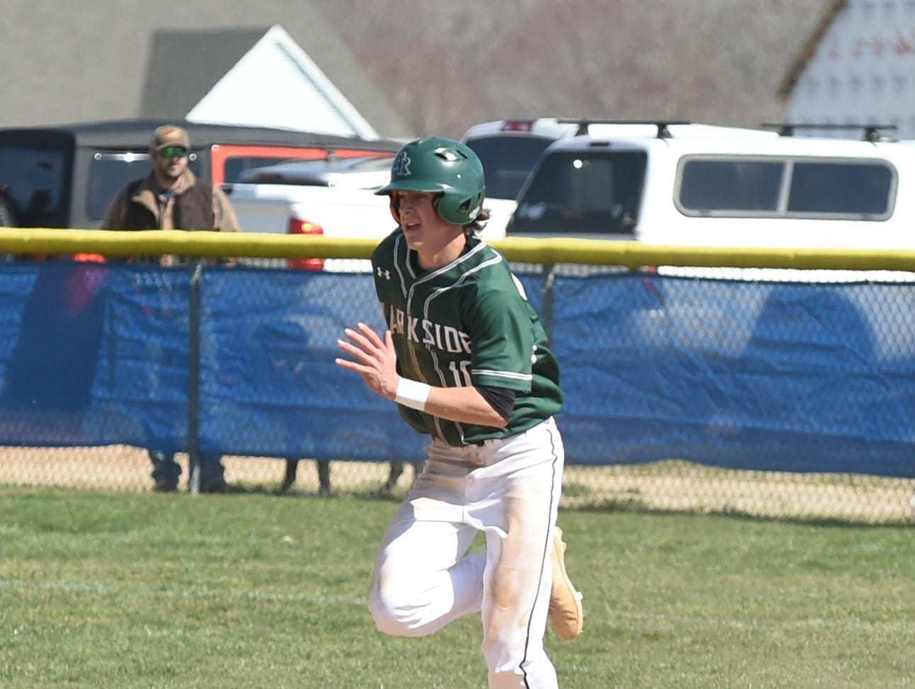 Parkside infielder Calvin Malone sprints to second base on Wednesday, April 3, 2019.