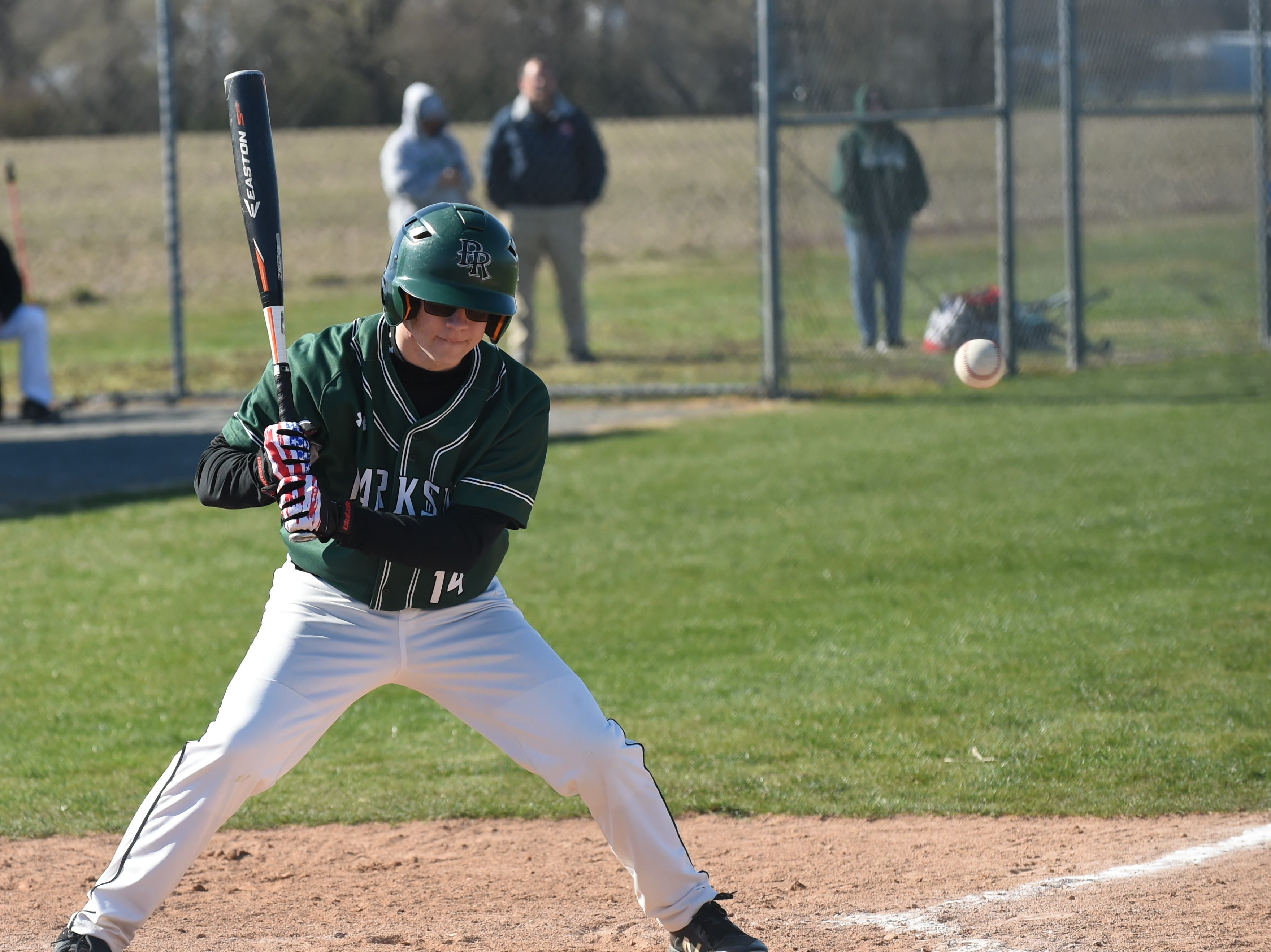 Parkside's Brandon Underwood watches a high ball fly past against Stephen Decatur on Wednesday, April 3, 2019.