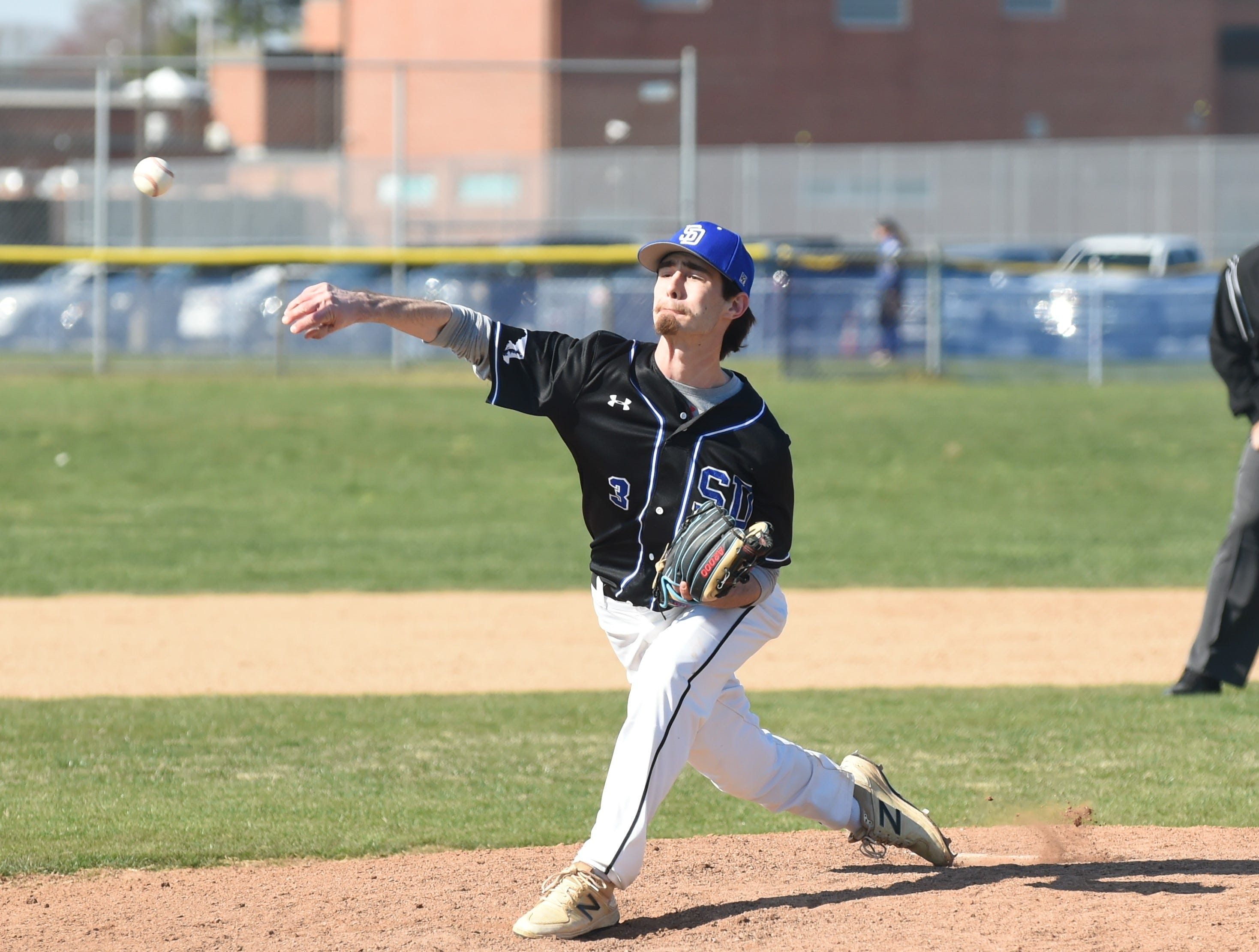 Stephen Decatur's Currance pitches against Parkside on on Wednesday, April 3, 2019.