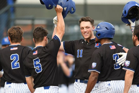 Former Byrd star Steele Netterville (11) hit two home runs, including a grand slam in Louisiana Tech's 10-4 win over McNeese on Wednesday.