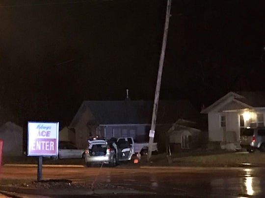 A man was arrested for DWI after he allegedly crashed into a pole near 41st Street and Center Avenue.