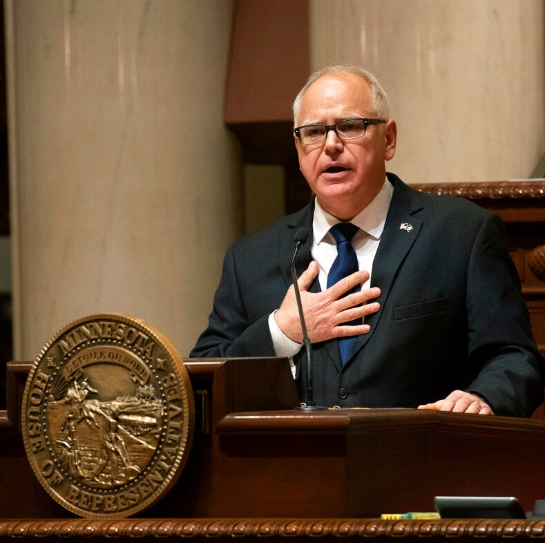 We asked Gov. Tim Walz why he gave up the gas tax. Here's what he said.