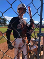 Cedar sophomore Kolby White took a pitch to the face, and played in his very next game five days later.