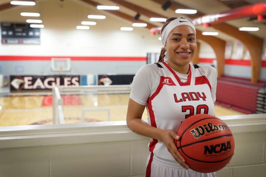 North Florida Christian senior guard Caylan Jones is the 2019 All-Big Bend Defensive Player of the Year in girls basketball after averaging 26.7 points, 8.9 rebounds, and 2.8 steals per game while producing eight double-doubles and 10 games with three or more steals.