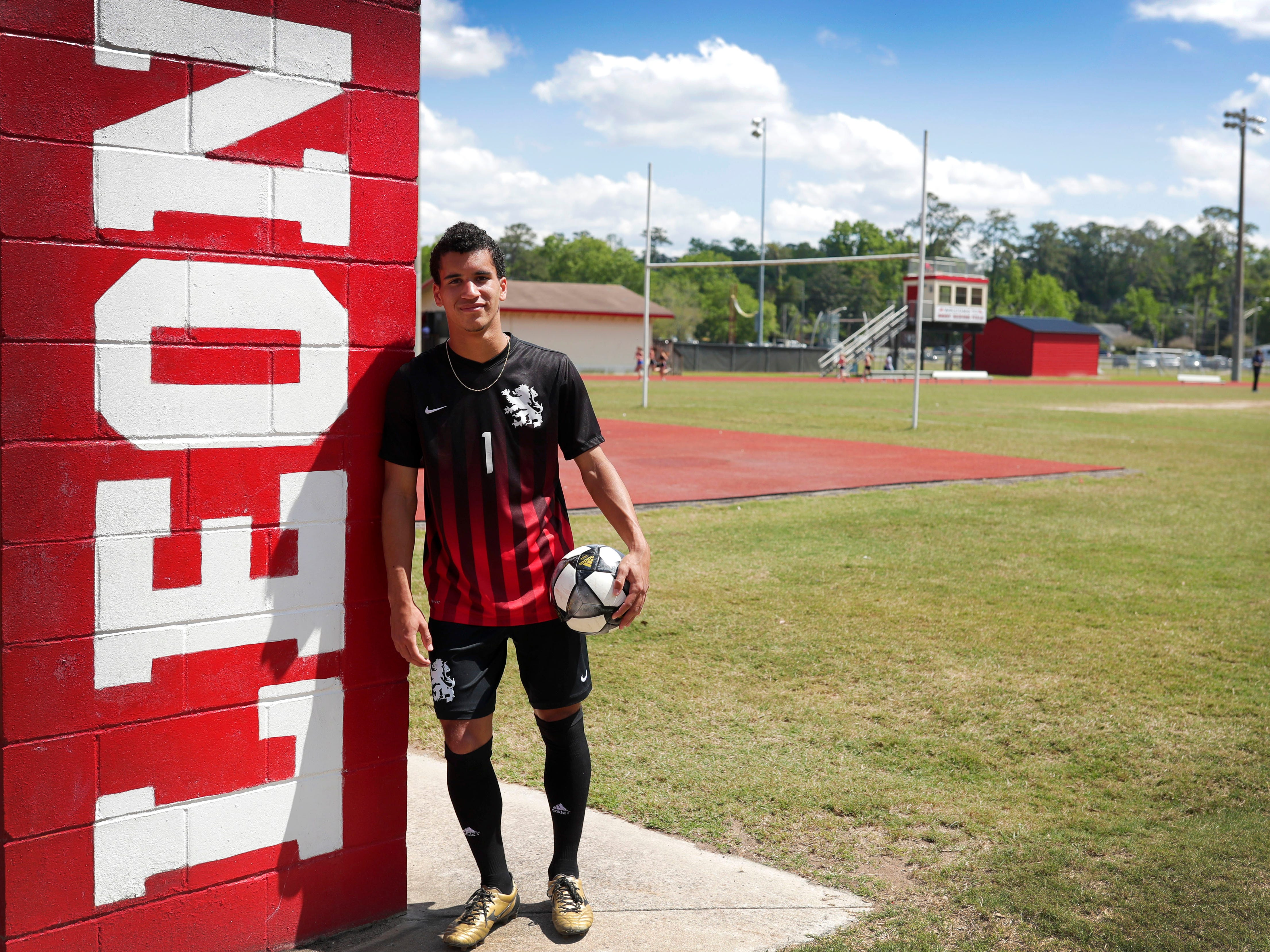 Leon senior forward Sy Fontenot is the 2019 All-Big Bend Player of the Year in boys soccer after scoring 30 goals with 21 assists during the Lions' 24-1-1 season.