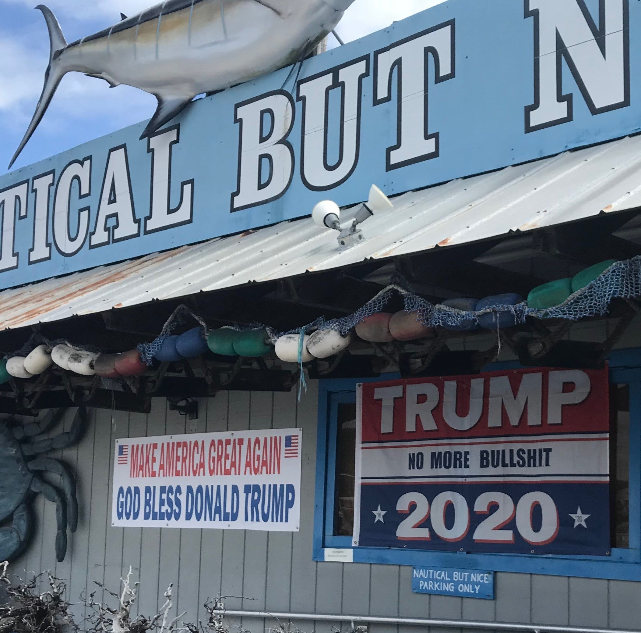 Profane pro-Trump sign at Stuart business has some calling BS