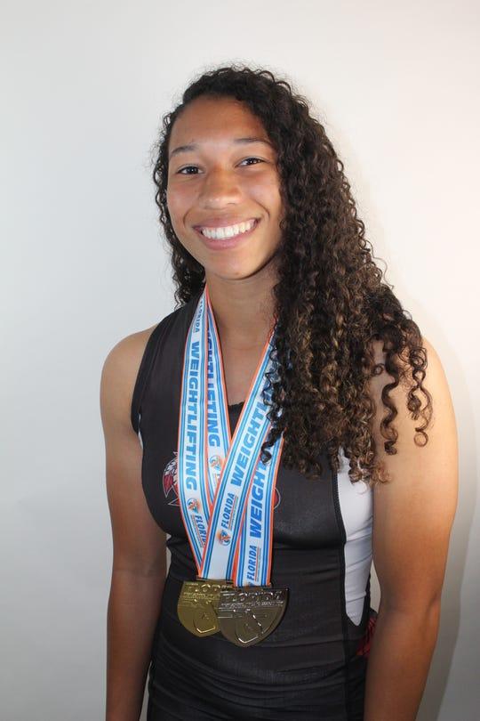 Jayda Jenkins, a senior at Vero Beach High, won the Class 2A state championship at 119 pounds.
