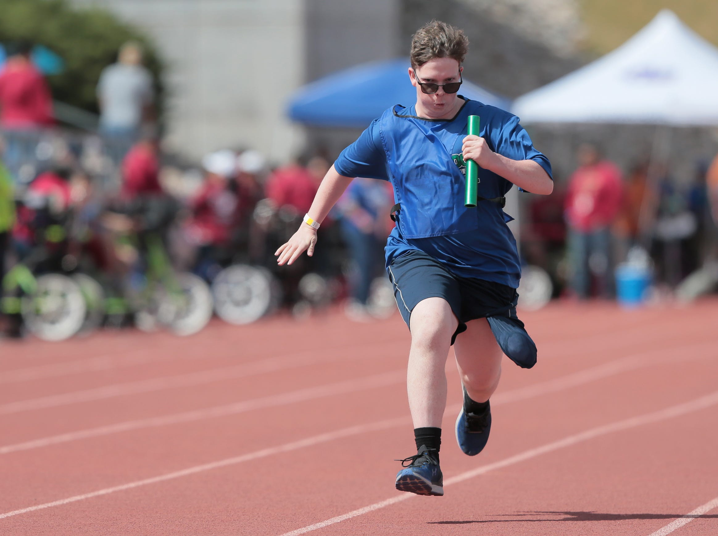 Over 1,000 students with special needs participated in the district's annual Spring Games. Students competed in a variety of track events Wednesday. Smiles filled their faces as they make their way to the finish line. High fives and hugs awaited finishers as they dash past cheerleaders and drum lines that lined the entire 100-meter homestretch.
