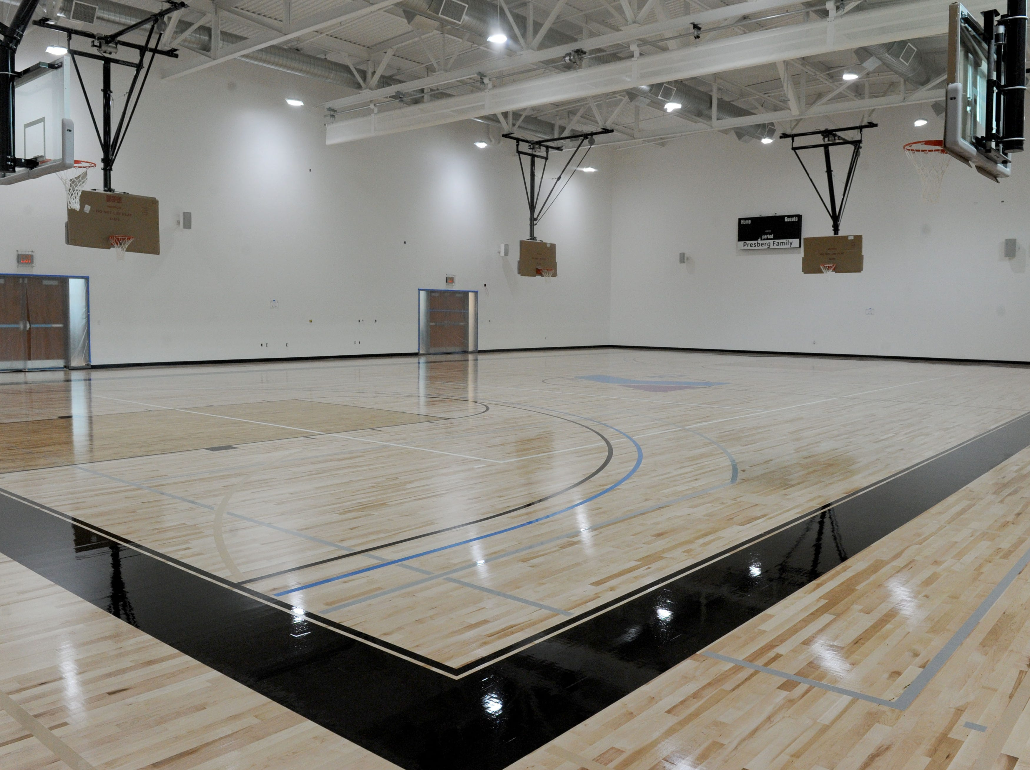 The basketball court at the new Yarrow Family YMCA in Westlake Village. The facility's grand opening is April 27.