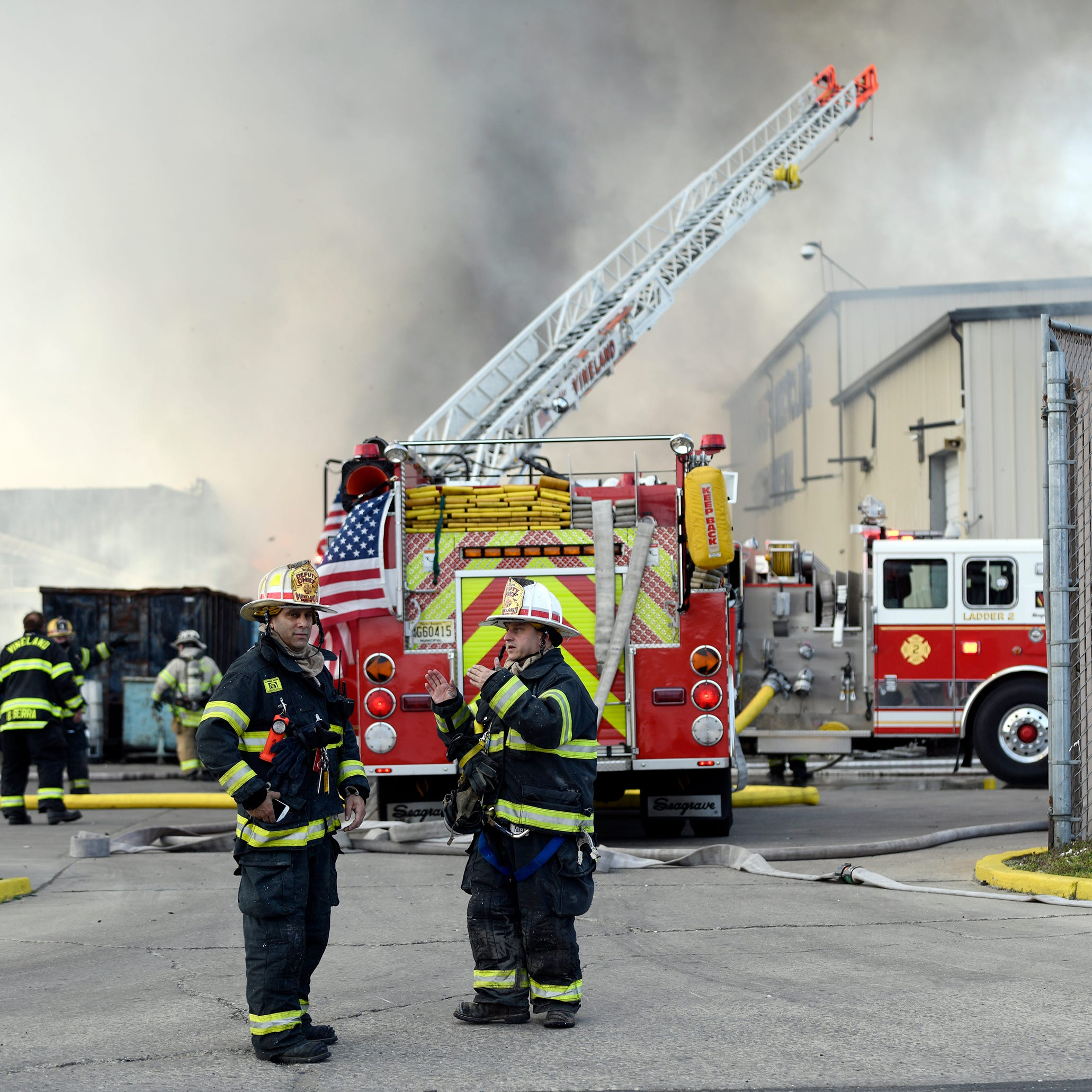 """The wind was the enemy,"" says Giordano employee as 3-alarm fire consumes business"