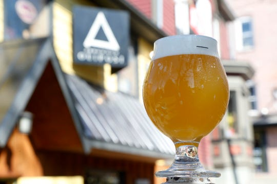 A glass of True Love at The Outpost, Arrowood Farm-Brewery's tasting room in New Paltz on April 3, 2019.