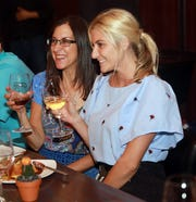 """Jeanne Muchnick with dinner guest Jenna Newdwick at Don Jito in Mamaroneck as part of """"Dinner with Jeanne,"""" August 2018."""