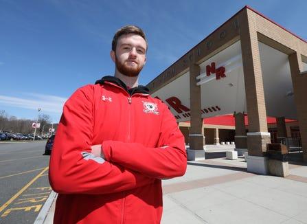 Scholar-Athlete Connor Frawley, North Rockland hockey April 4, 2019.