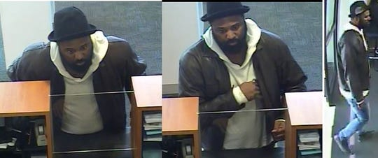 State police are trying to identify this man, who investigators believe robbed a bank on Kirkwood Highway Wednesday morning.