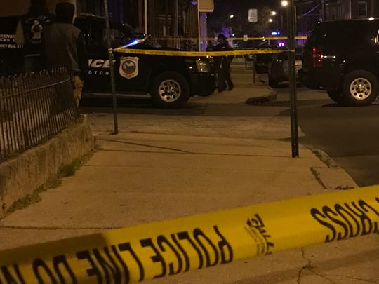 Police respond to a shooting 1400 block of West Third Street about 9 p.m. on April 3.