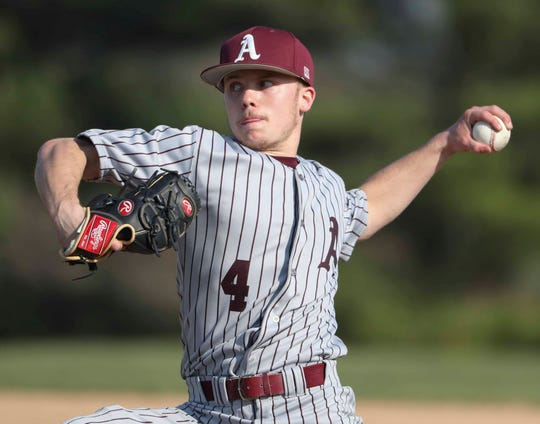 Appoquinimink's Mason Keene delivers in his start and 5-2 win at St. Mark's High School Thursday.