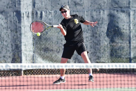Rider's Steven Lee is headed to the regional tournament in boys singles Thursday after winning a playback.