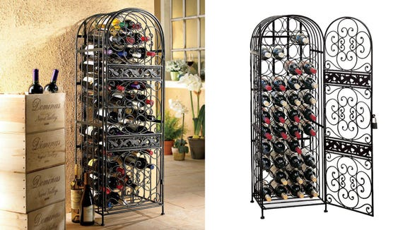 A wine rack like this is great for storage and adding character to your decor.