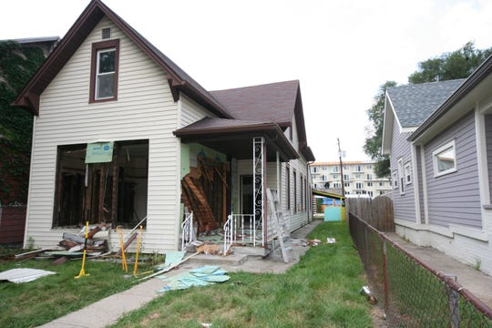 """This is the """"before"""" photo of a home in the Fountain Square neighborhood of Indianapolis that was completely renovated in May 2018 on HGTV's """"Good Bones."""""""