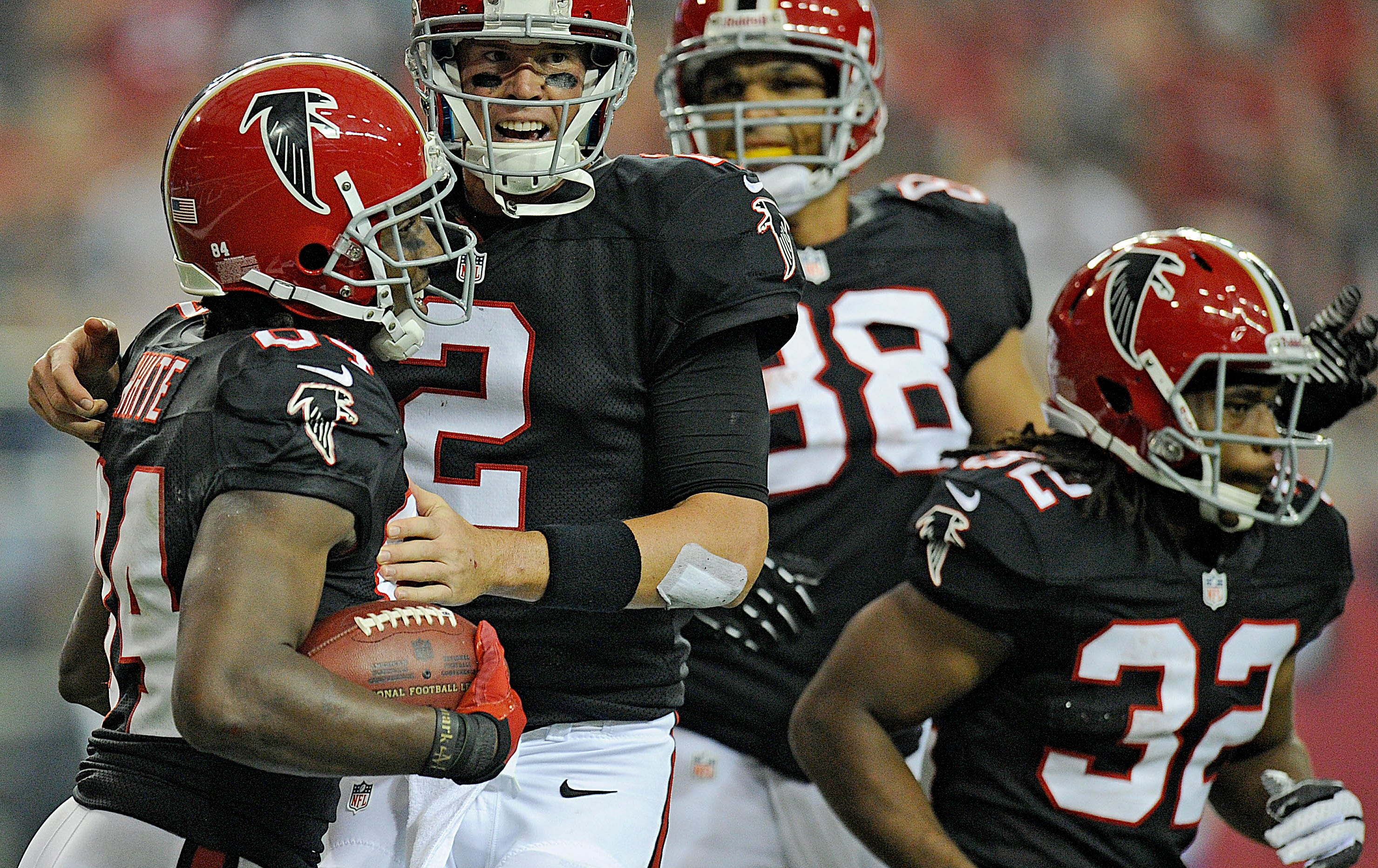 The Falcons wear throwbacks for a game in 2011.