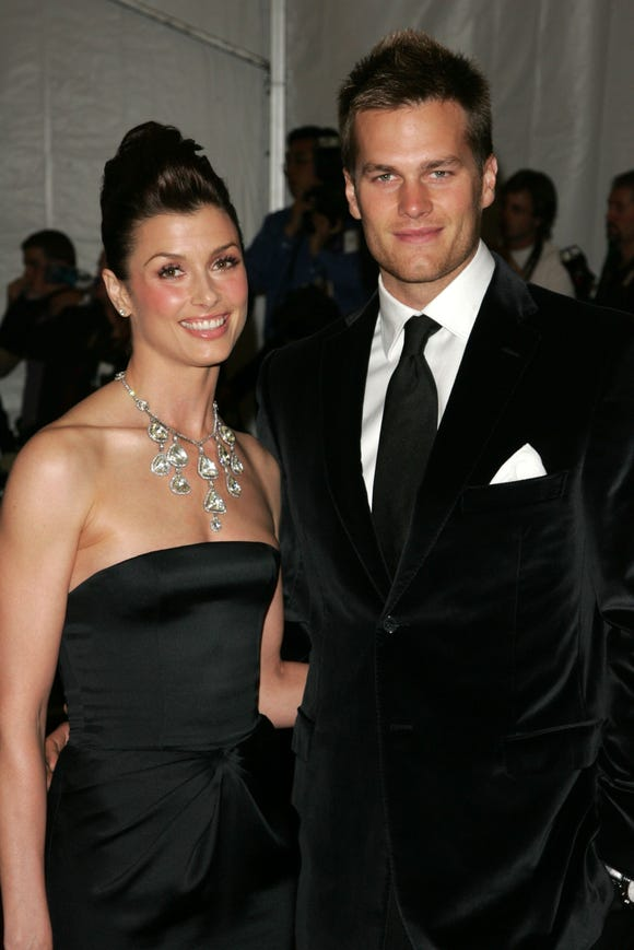 Bridget Moynahan and her ex, football player Tom Brady, at the Met Gala on May 1, 2006 in New York City.