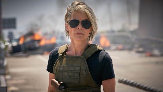 "Linda Hamilton returns as heroine Sarah Connor in ""Terminator: Dark Fate."""