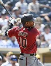 Jones during Wednesday's game in San Diego.