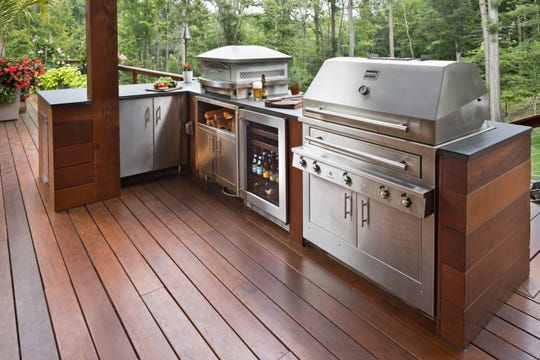 The centerpiece for any outdoor kitchen in the grill. Experts suggest the size is less important than the quality you choose.