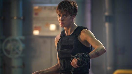 "Mackenzie Davis is warrior tough as enhanced human Grace in ""Terminator: Dark Fate,"""