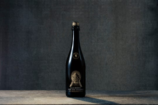 For The Throne, the latest beer in Game of Thrones, HBO and Brewery Ommegang's Game of Thrones beer series. The strong golden ale becomes available at the beginning of April, just in time the TV series' final season beginning Sunday, April 14.