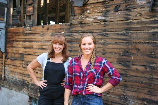 "Karen E. Laine and her daughter, Mina Starsiak-Hawk, are the team behind HGTV's ""Good Bones."""