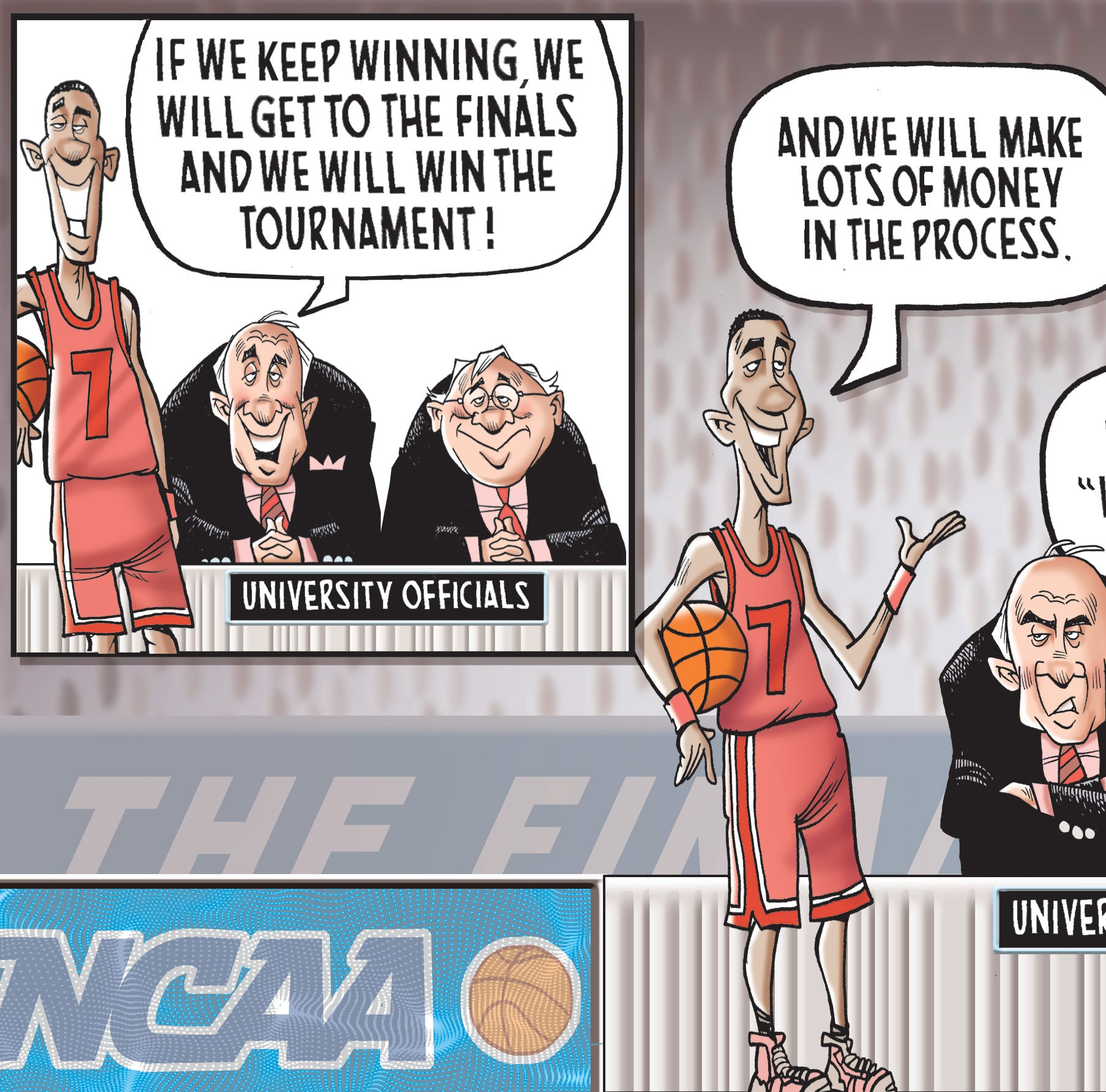 The NCAA basketball March Madness money machine