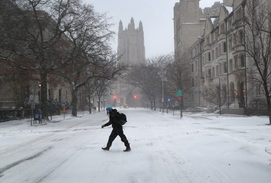 The campus of Yale University on January 4, 2018 in New Haven, Conneticut.