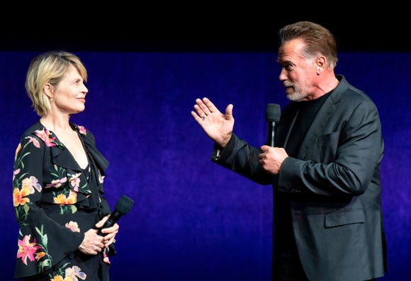 "They'll be back: ""Terminator: Dark Fate"" co-stars Linda Hamilton and Arnold Schwarzenegger talked up the sixth ""Terminator"" movie at CinemaCon."