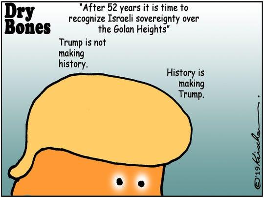 Trump on Israeli Golan Heights