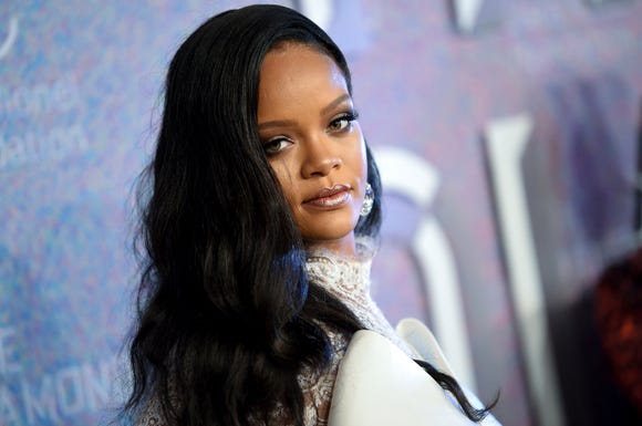 Rihanna attends the 4th annual Diamond Ball in New York on Sept. 13, 2018.