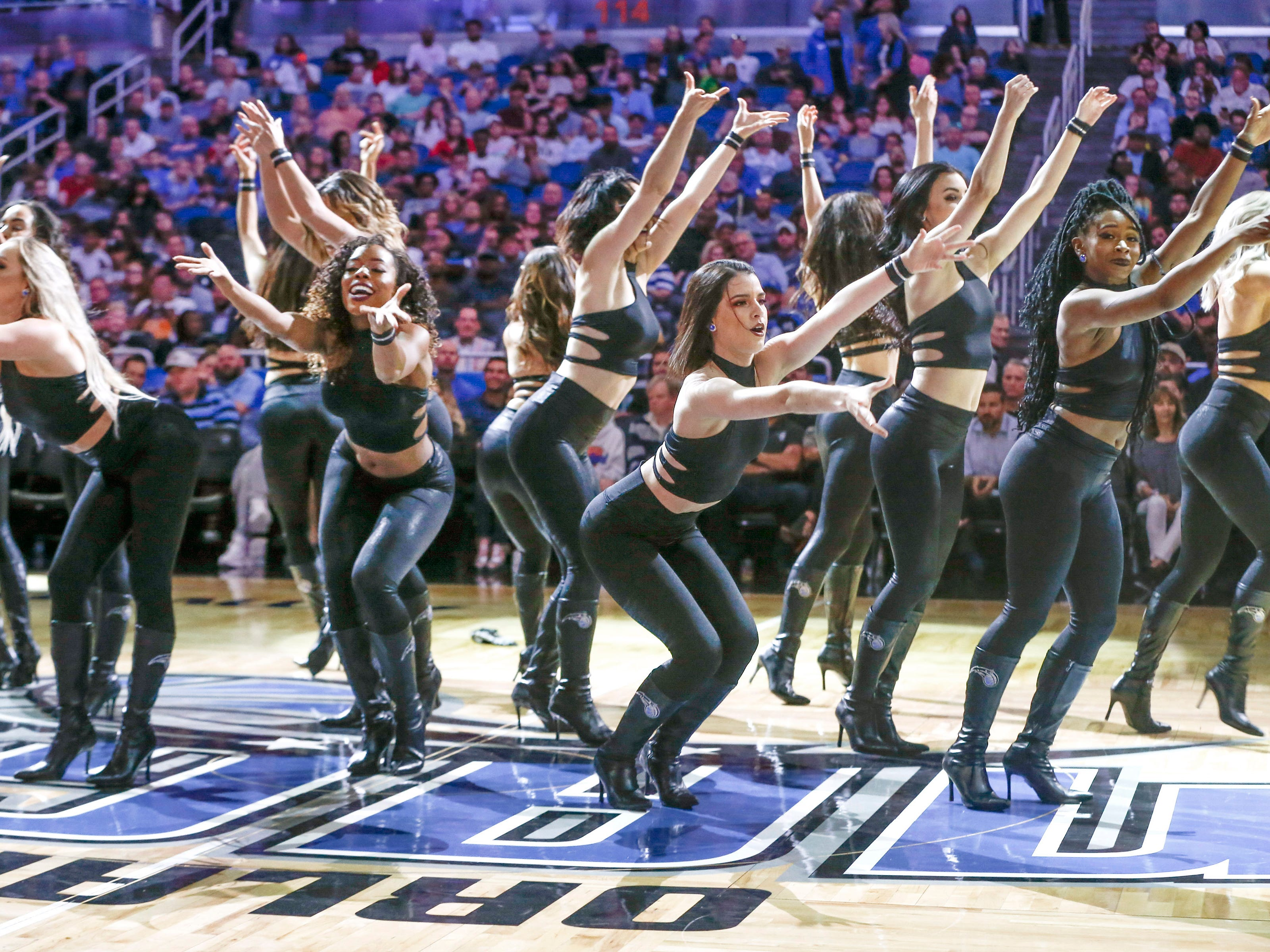 April 3: The Orlando Magic Dancers perform during the second half at Amway Center.