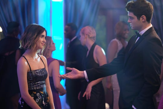 "In ""The Perfect Date,"" Noah Centineo stars opposite Laura Marano, who also was his romantic/dance partner in the Disney Channel show ""Austin & Ally."""